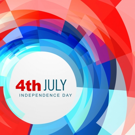 4th: vector abstract american independence day background