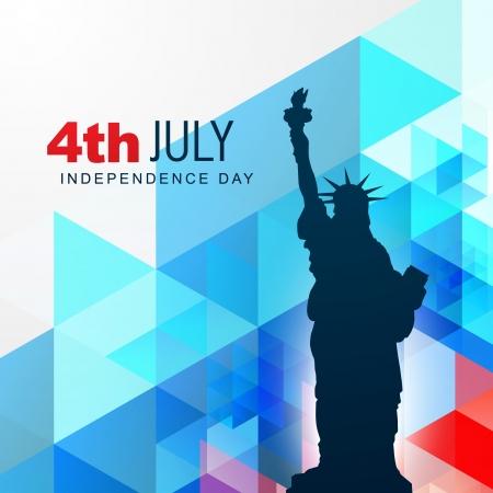 July 4: vector statue of liberty shillouette design