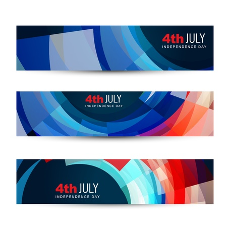 dark set of american independence day headers Stock Vector - 19979523