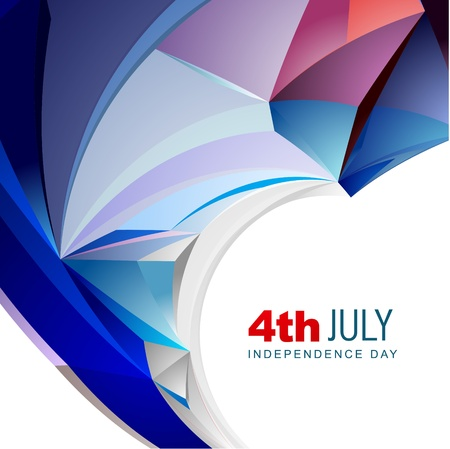 abstract wave style american independence day vector design