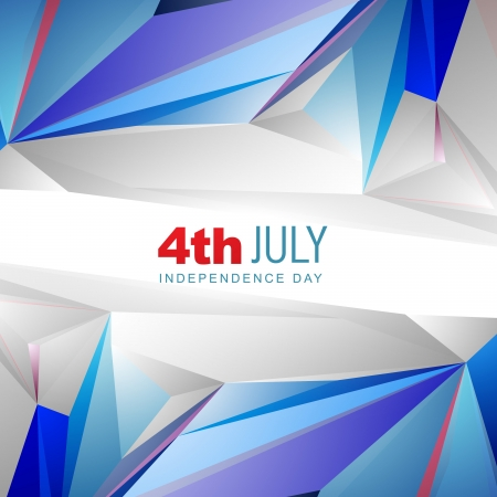 4th of july american independence day background Stock Vector - 19969573