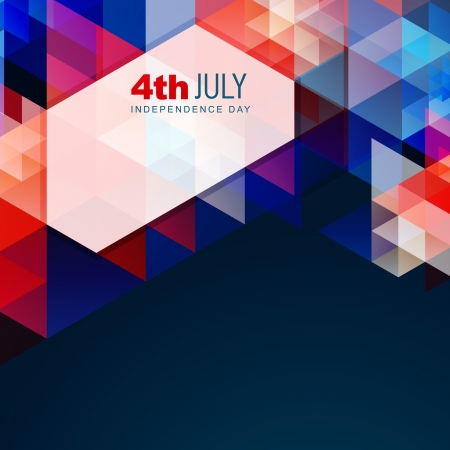 american independence day vector abstract style design Vector