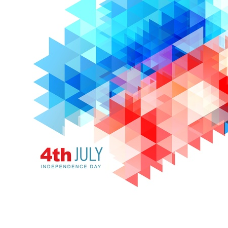 vector abstract 4th of july independence day background