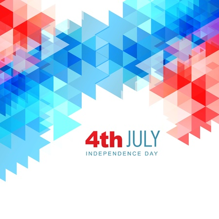 stylish abstract american independence day vector illustration Stock Vector - 19979539