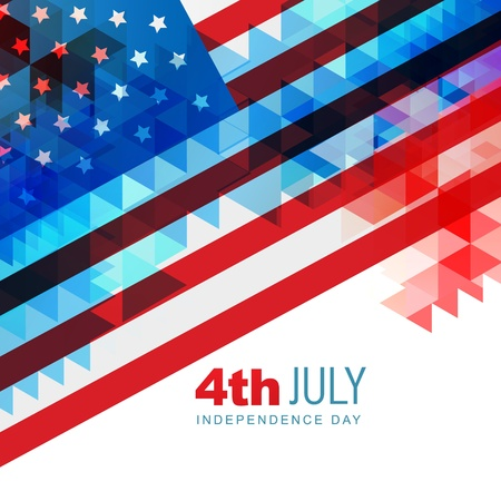 memorial day: abstract design american independence day art Illustration
