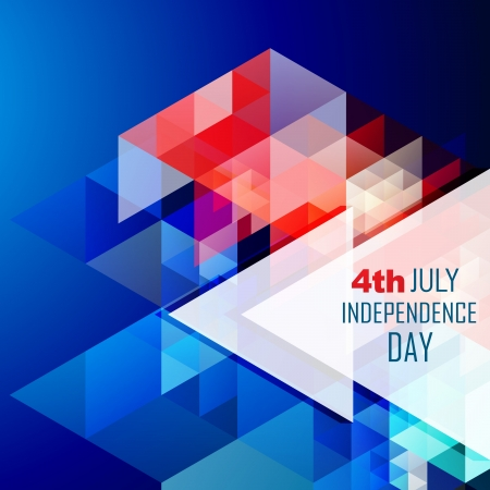 stylish abstract american independence day vector illustration Stock Vector - 19978992