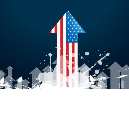 vector american flag arrow design Stock Vector - 19979006