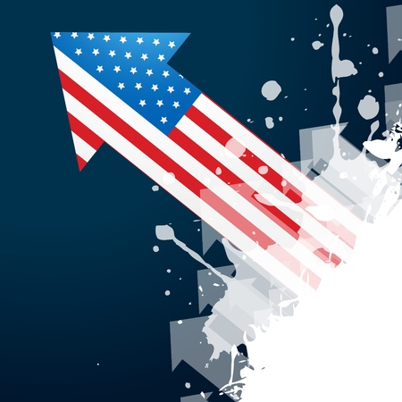 american flag arrow design vector Vector