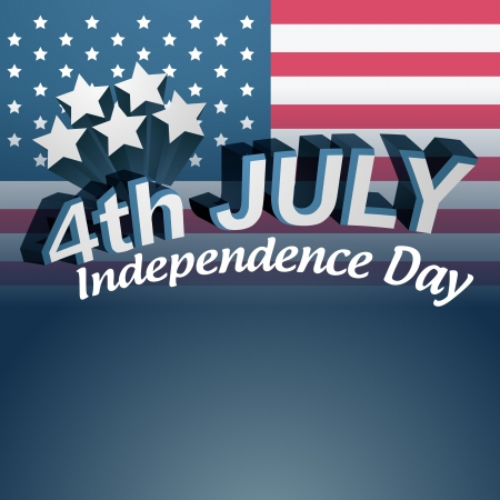 vector 4th of july text design Stock Vector - 19979020