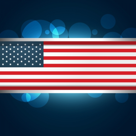 american flag vector design illustration Stock Vector - 19978741