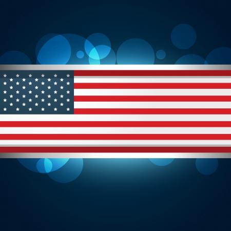 american flag vector design illustration Stock Vector - 19978741