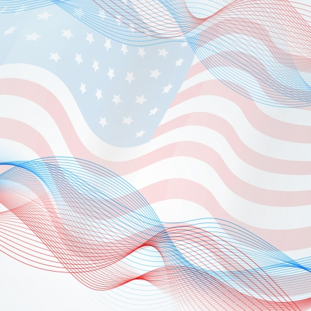 patriotic usa: vector flag background with space for your text