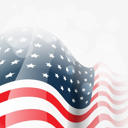 vector american flag background illustration Stock Vector - 19978686