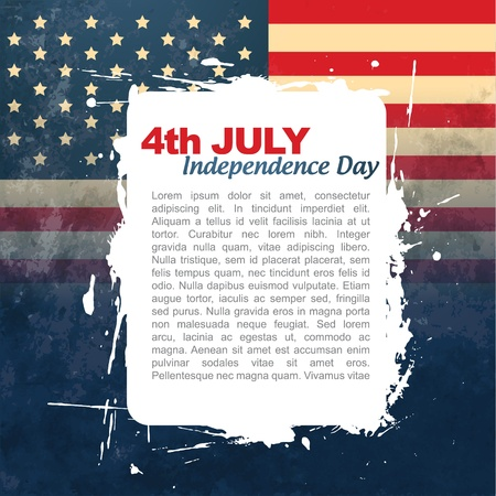 july 4th: vector 4th of july background with space for your text