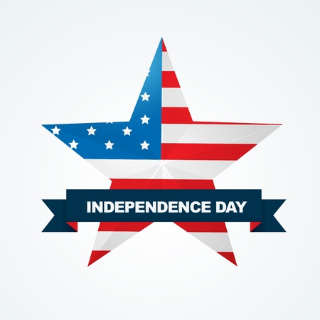vector american independence day star label design