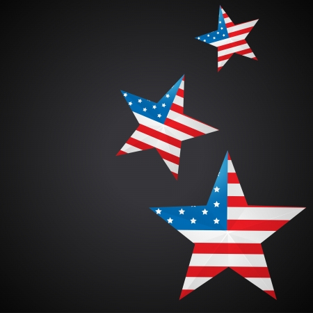 4 july: american independence day background with stars