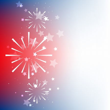 fourth july: vector american flag background design with space for your text Illustration