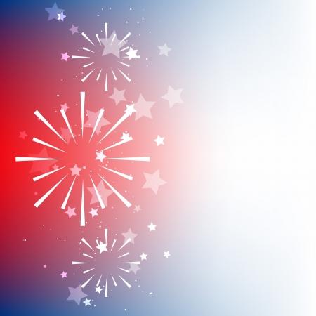 juli: Vector Amerikaanse vlag achtergrond design met ruimte voor uw tekst Stock Illustratie