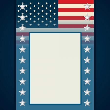 vector american independence day flyer design with space for your text Vector