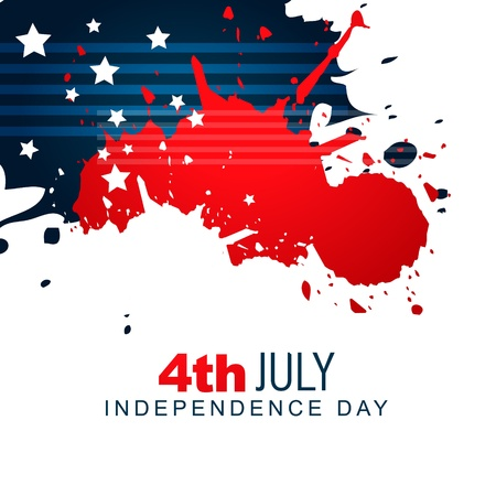 july: vector creative american independence day background design