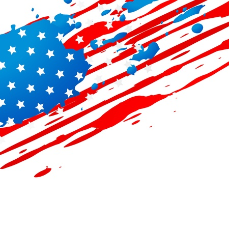 vector creative american flag design Vector Illustration
