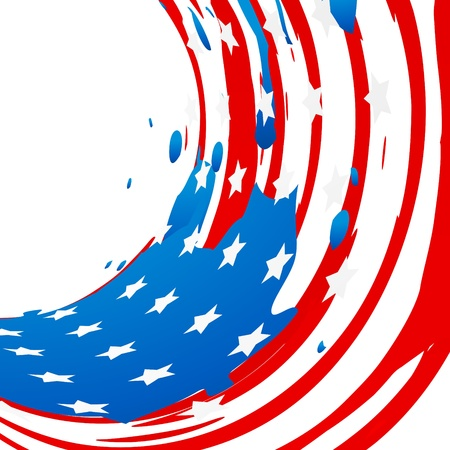 ink splash vector american flag design Vector