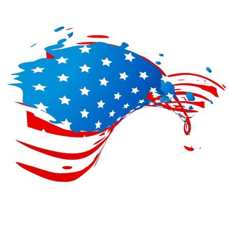 patriotic american: creative american flag style design