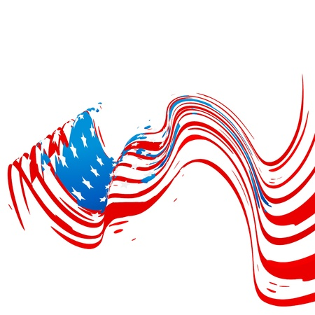 democratic: creative wave style american flag design