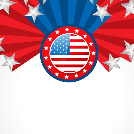 patriotic america: vector creative american independence day design