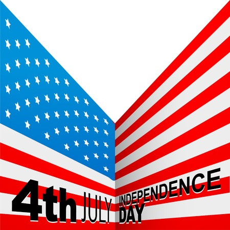 july 4: american flag design background