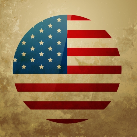 vector grungy style american independence day design Vector