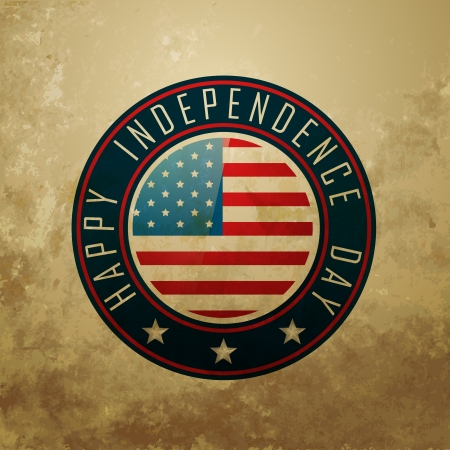 american independence day vector label