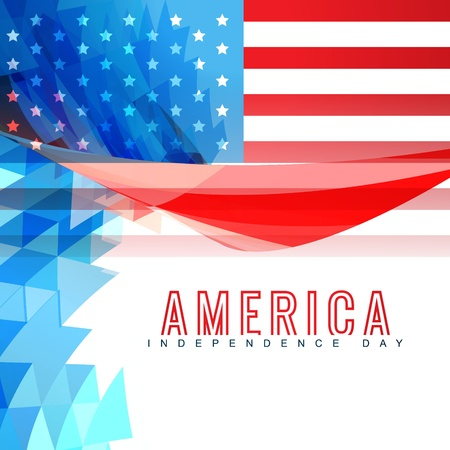 4 july: american independence day background design