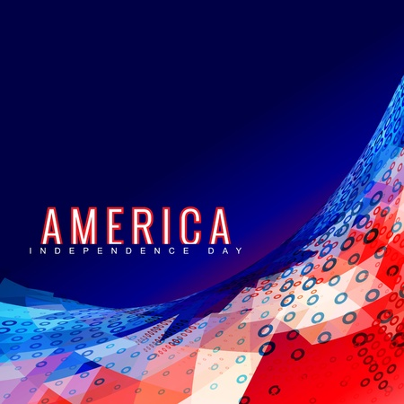 patriotic america: stylish american independence day design Illustration