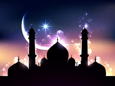 mooie ramadan vectorillustratieontwerp Stock Illustratie