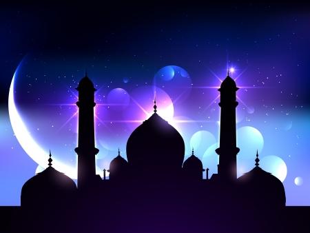 holy night: beautiful vector background of ramadan festival