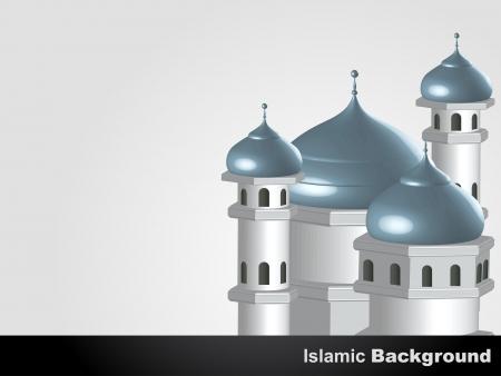 muslim pray: vector mosque islamic background design