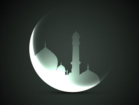 beautiful moon and mosque vector design Stock Vector - 20531030