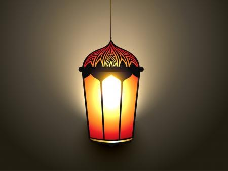 ramzaan: vector glowing islamic lamp design