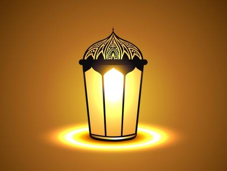рамадан: вектор светящиеся лампы иллюстрации дизайн Иллюстрация