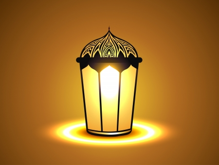 vector glowing lamp design illustration