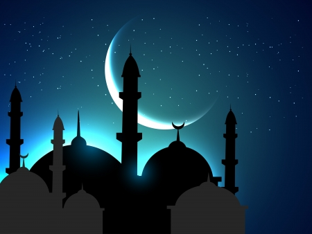 vector heilige ramadan festival achtergrond