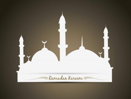 ラマダン カリーム祭背景をベクトルします。  イラスト・ベクター素材