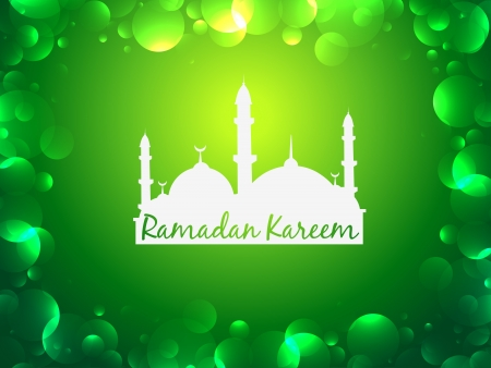 glowing ramadan kareem festival background Vector