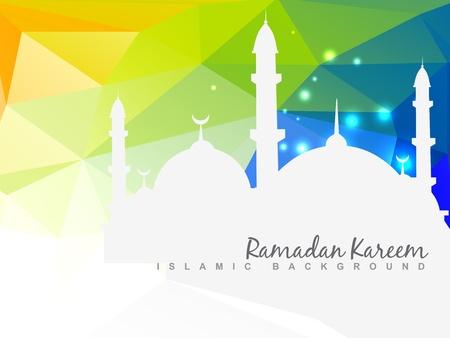 ベクター美しいイスラムの背景デザインします。  イラスト・ベクター素材