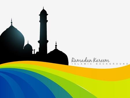 ramzaan: vector islamic ramazam kareem background Illustration