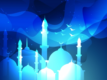 muslim pray: vector eid festival islamic background