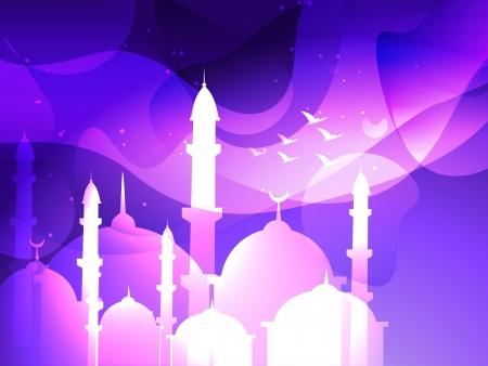 ベクトル イード祭りイスラム背景