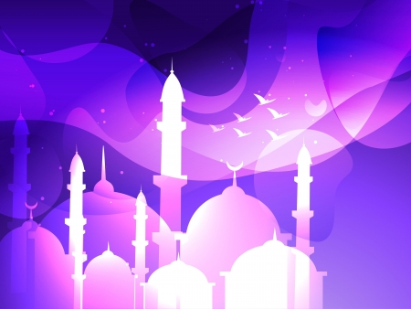 namaz: vector eid festival islamic background