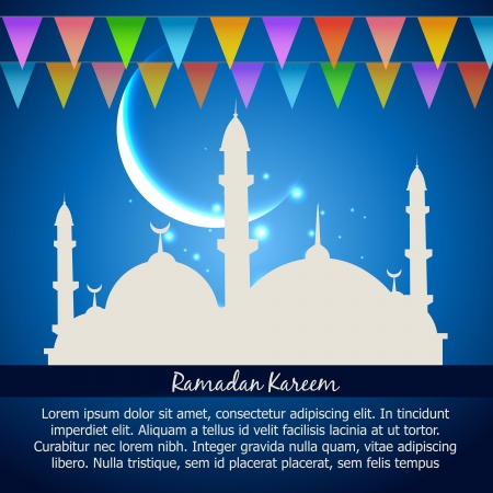 namaz: ramadan kareem celebration vector background